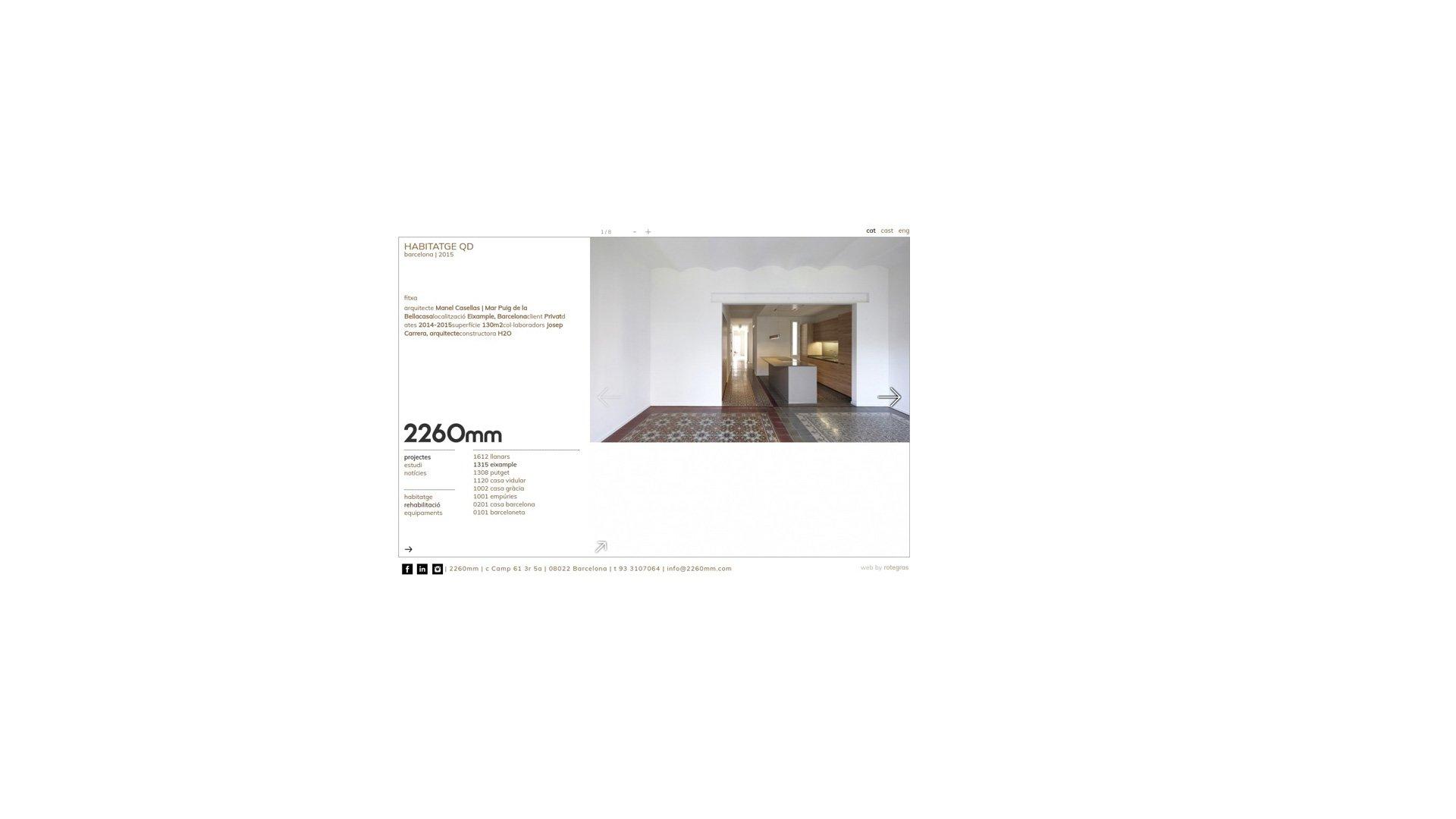 2260mm web design